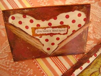Debbie Egizio Artist Trading Card heartfelt message