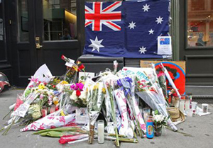 Heath Ledger sidewalk memorial