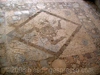 Trinacria mosaic, Tindari, Sicily