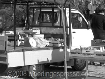 Little truck (not an Ape) with fruits and vegetables on Flickr