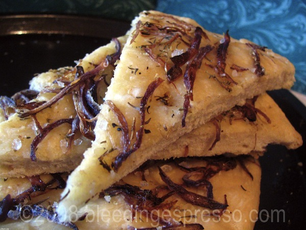 Onion, Oregano, and Thyme Focaccia
