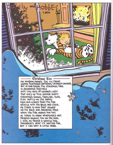 praznični stripići  Calvinhobbes