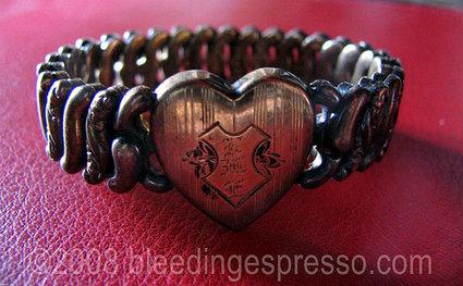 Vintage heart bracelet on Flickr