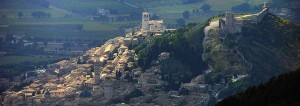 Assisi with Rocca Above by Gunnar Bach Pedersen