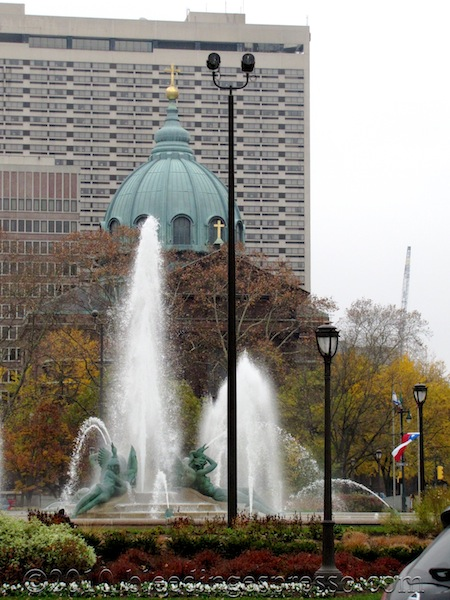 Logan Circle, Cathedral Basilica of Saints Peter and Paul, and the Sheraton, Philadelphia