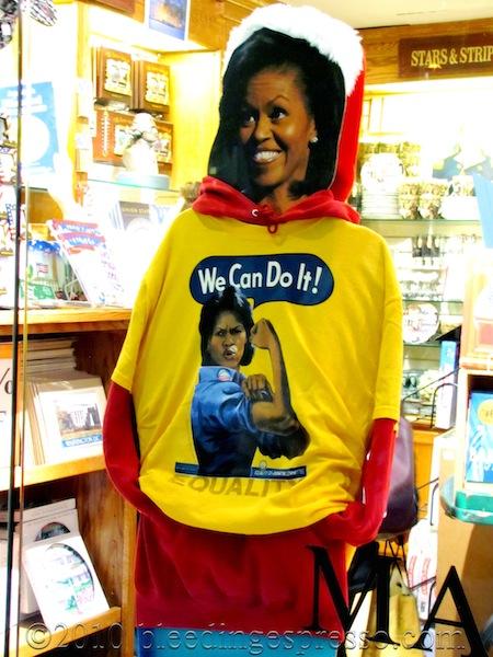 Festive Michelle Obama