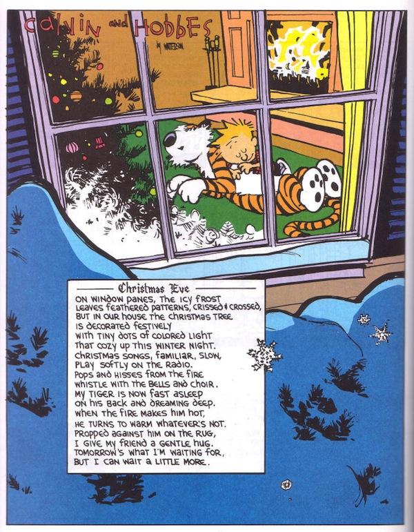 Calvin & Hobbes Christmas Eve Poem
