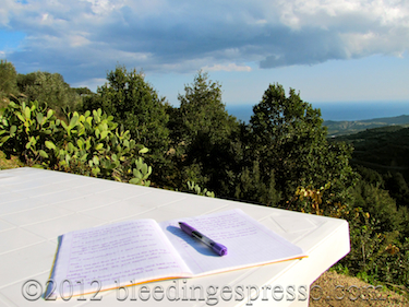 Writing table in the campagna