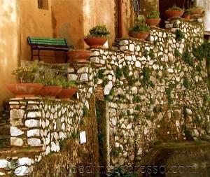 Steps near Chiesa dell'Immacolata, Badolato, Calabria, Italy