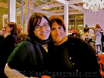 Michelle Fabio & Gina DePalma, Bryant Park, NYC, Dec 2009